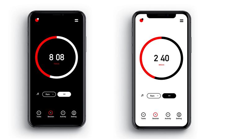 pomodoro mobile app